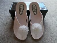 Brand new boxed Pulse white sandals size 4