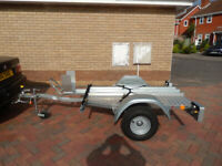 Trigano single motorbike trailer, not just as new but better.