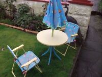 Kids Table and Chairs Patio Set in Great Condition Delivery Available £10