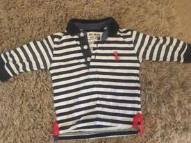 Pair of Next boys polo shirts 6-9 months.