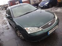 2004 Ford Mondeo LX 1.8 Petrol 5 Door Hatchback in Green Colour. Mileage is 65k with 6 Months MOT***