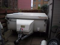 Fleurette Folding Caravan.1990 model. 2 Berth. £1550 ono.