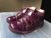 Girls 7F Purple Ankle Boots