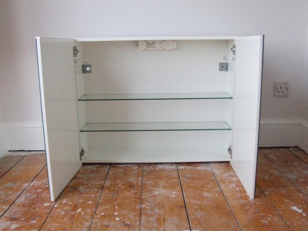 GOOD AS NEW ! STORJORM IKEA : BATHROOM CABINET WITH LIGHTS & FREE towel rail!