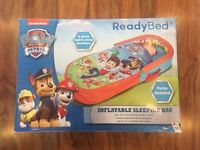 Paw Patrol Readybed Inflatable Sleeping Bag - Brand New in Box