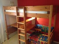Cabin bed desk lamp sofabed shelves