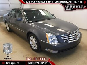 2011 Cadillac DTS 4dr Sdn Luxury-Black Leather, Soft ride suspen