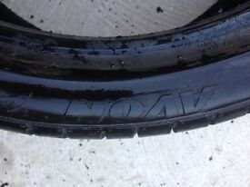 255/35/19 Avon tyre 5mm tread