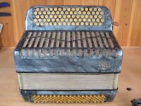 Buchen Bulach Sell, 3 Voice, 5 Row, 111 Bass, C System Accordion.