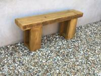 Reclaimed wooden garden bench