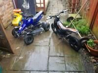 Mini quad swap for mini moto