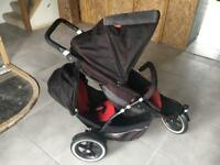 Phil and Ted in line double Buggy Pram Stroller