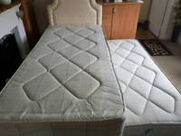 Single Divan Guest Bed with Mattresses and Headboard