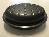 Grey Non-Stick Carbon Steel Oval Roasting Pan 27.5cm x 18cm (Used)