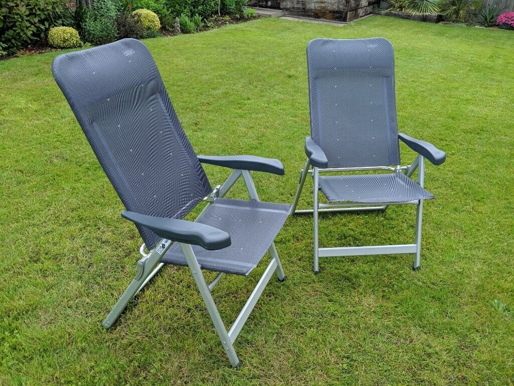 Crespo Al 237.Pair Of High Quality Crespo Al 237 Reclining Camping Garden Chairs With A Footrest Attachment In Bath Somerset Gumtree