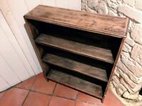 Solid Wood Bookshelves /Bookcase - 77cm wide, 22cm deep, 98 cm high