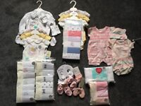 NEW!! Baby Girl Clothes Bundle 0-3 & 3-6 months (All New With Tags, Never Been Worn) Total £117