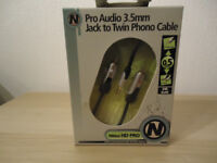 Pro Audio 3.5mm jack to phono cable x10