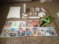 Nintendo Wii with games, Wii Fit and extras