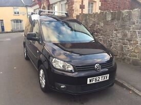 2012 VW Caddy Highline in Black Top Spec. VGC Boarded, Roof Bars, Ready for work