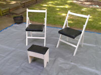 Folding Chairs 1950s or 1960s with foot stall Vintage / Antique / Retro FREE LOCAL DELIVERY