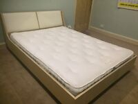 John Lewis king sized bed and mattress.