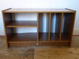 Vintage Brown Vinyl Record and Hi-Fi Sideboard Cabinet