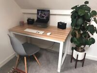 Modern desk and chair - both very good condition
