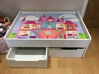 Girls play table with storage