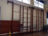 Vintage / Retro School Hall PE Gym Climbing Frame