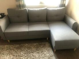 3 seater corner sofabed and 3 seater sofabed