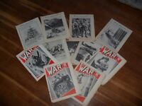 11 WAR ILLUSTRATED NEWSPAPERS AND 5 PROPAGANDA THICK MAGAZINES CIRCA 1942