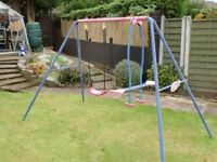 Childs swing and see-saw