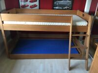 Mid height bed - can also be used as a single bed with stowaway