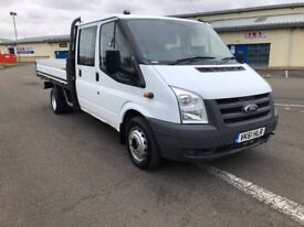 Ford Transit 2.4 TDCi 350 LWB Crewcab Dropside Pickup BUY FOR £149 PM