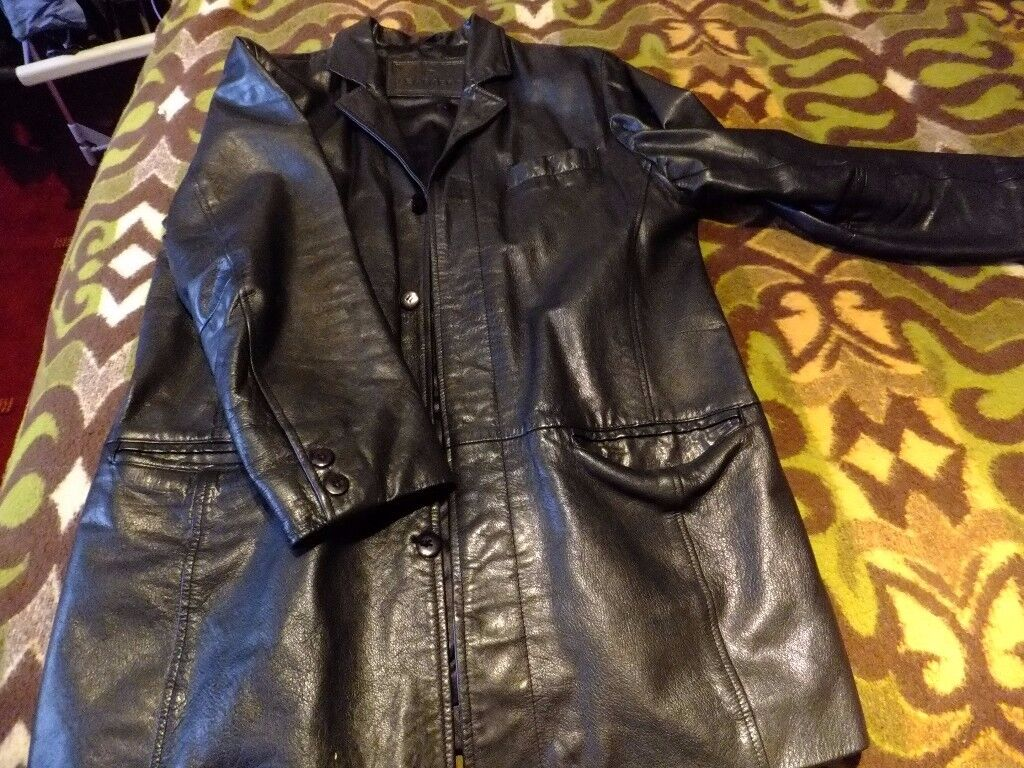 Black Leather Jacket 42 -44 inch chest