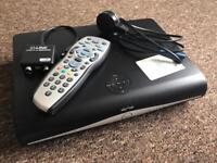 SKY PLUS + HD BOX WITH REMOTE AND POWER CABLES AND INCLUDES IO LINK FOR SENDING TO ANOTHER ROOM