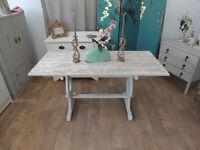 Farmhouse style shabby chic dining table