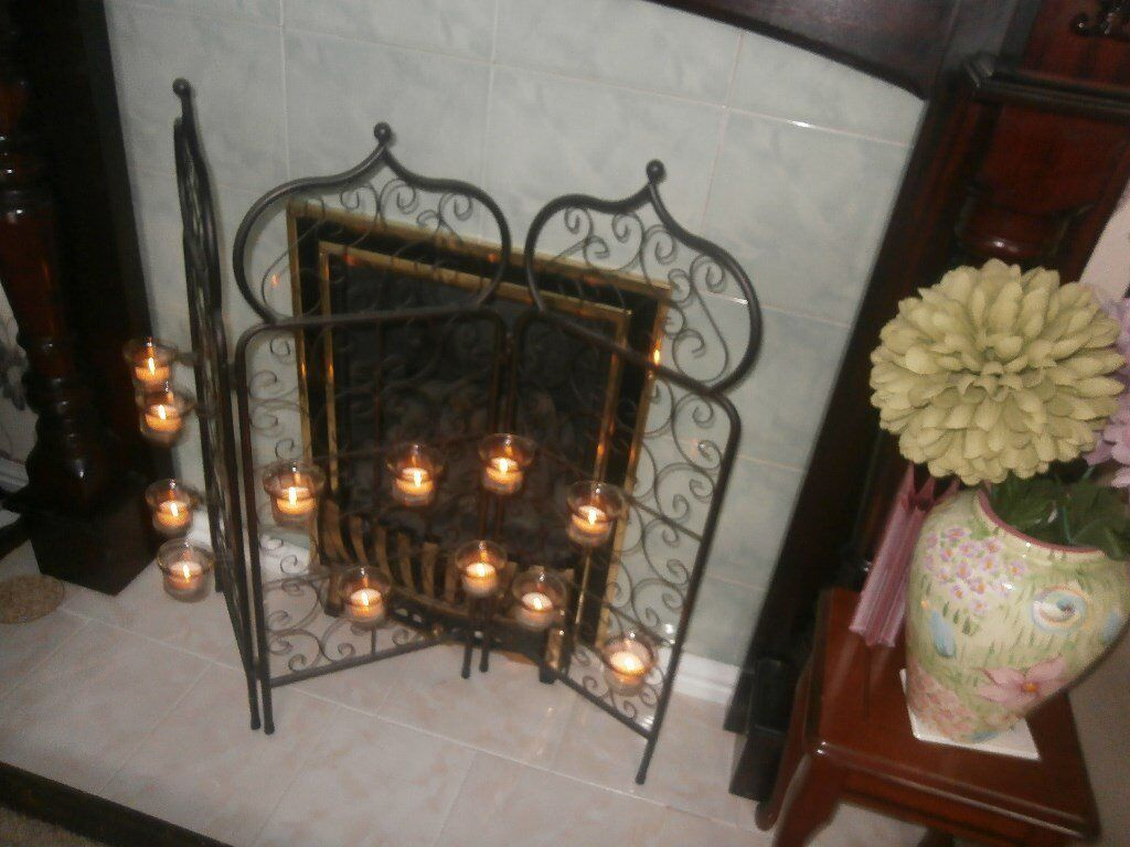 LOVELY MORROCAN STYLE FIRE GUARD WITH TEALIGHT HOLDERS