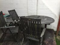 B&Q Winchester garden table 6 chairs and chair cushions