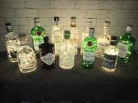Gin bottle lights