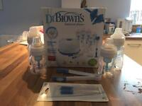 Dr Browns steriliser, bottles and accessories