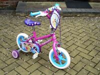 Girl's Bicycle-Disney Princess Cycle with stabilisers