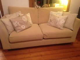 SOLD - marks and spencer cream sofa bed