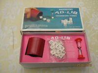 Vintage - Waddington Ad-Lib cubes game.