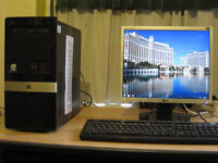 Fast HP PC E5200 Dual-Core 2.50Ghz x 2, 4gb rams, win 7, entry level gaming PC. tower £60, full £70