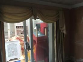 Full length curtains and swags and tails