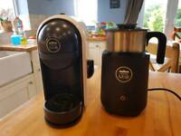 Lavazza minu coffee machine and milk frother