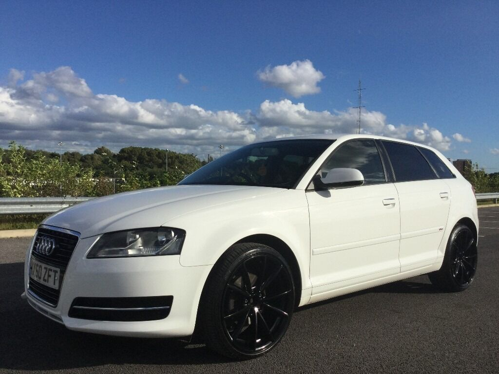 2010 audi a3 sport s line badge pearl white with 19 inch gloss black alloys in manchester city. Black Bedroom Furniture Sets. Home Design Ideas