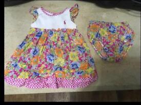 RALPH LAUREN BABY GIRLS DRESS & PANTS. 6 month age.